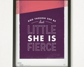 Graphic Design Typography Giclee Prints - Shakespeare Quote - He Said She Said series