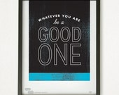 Graphic Design Typography Giclee Prints - Abraham Lincoln Quote - He Said She Said series