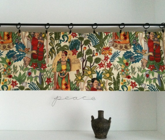 frida kahlo home decor artsy cafe frida valance cottage chic diy frida kahlo home decor popsugar latina