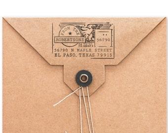 Personalized Address Stamp - Custom Stamp - Address Mailing Stamp - USPS Meter Design - DIY Printing - Housewarming - Original Stamp Design