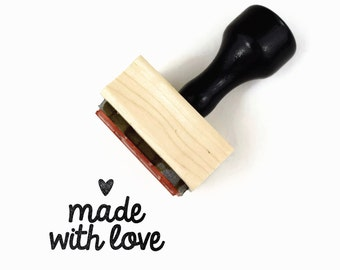 Rubber Stamp Made with Love - DIY Packaging Tag Craft Art Show Stamp