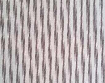 Ticking Fabric | Brown Striped Ticking | Cotton Fabric