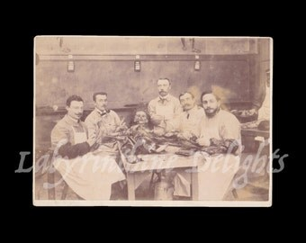 Shocking & Macabre Autopsy Photo / Medical / 1890s