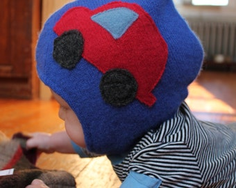 Toasty Gnome Hat / Cars Baby / Toddler Hat Soft Cashmere WOOL / Fleece Gnome Pixie Hat