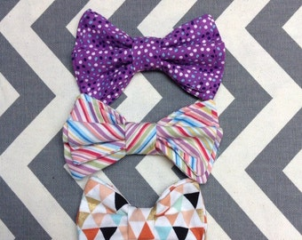 """Spring Toddler Baby Bow Tie Clip-on with """"Any shirt"""" Clip Included Fun Party Favor"""
