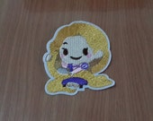 """Rapunzel Iron on Patch Embroidered size 2 3/8"""" x 3"""""""