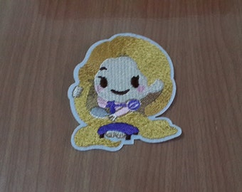 "Rapunzel Iron on Patch Embroidered size 2 3/8"" x 3"""
