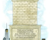 Monument - Limited edition giclee print by Darren Cullen