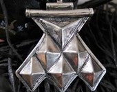 Tuareg Tribe Silver Khomeissa or Khomissar with Tifinagh inscription at the back