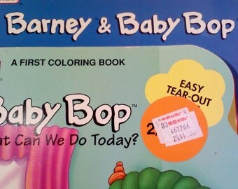 Barney and Baby Bop Coloring Books, Set of 2