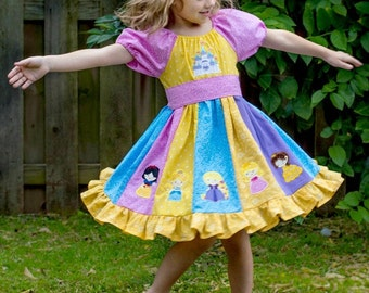 Princess Twirl Dress, Disney Inspired Princess, Princess Dress, Girls Disney Dress,