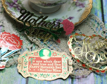 1 Antique/Vintage Mother's Day Scrap/Sticker