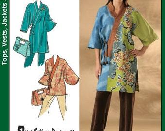 Simplicity Pattern 4134 Everyone 2 Kimono Jackets and Bags Sizes Xxs-M : 4-16 NEW