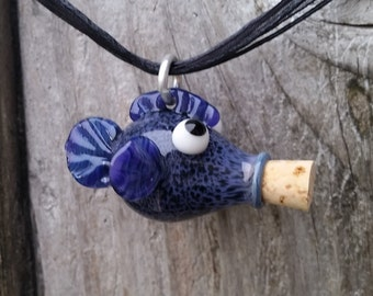 Small Fish Bottle Pendant with Cork