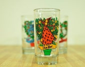 Replacement Vintage Twelve Days of Christmas Drinking Glass:  11th Day My True Love Sent To Me Eleven Ladies Dancing