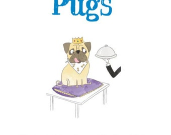 Pug book, pugs, dog lover gift, signed copy.