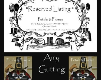 """RESERVED Installment listing for """"AMY GUTTING""""- Second Installment/Final Payment for """"Turkey Stand"""" Thanksgiving 2016 Delivery"""