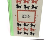 Classic Book eReader Cover Made from Black Beauty, with Black and Brown Horses, Fits iPad Mini, Kindle Fire HD7, Nook Color, Galaxy Tab