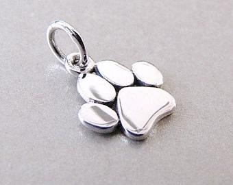 Silver Paw Charm - Dog Paw Charm - Pet Charm