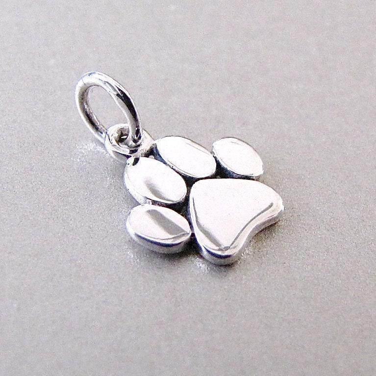 silver paw charm paw charm pet charm
