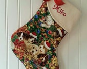 Personalized Dog Christmas Stocking . Puppy Stocking . Handmade by SeamsOriginal