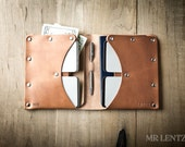 Double Passport Wallet, Leather Travel Wallet, document wallet, passport case, leather passport holder, two passport holder 042