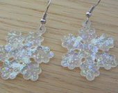 Snowflake Earrings Winter earrings Christmas earrings snow earrings dangle earrings winter jewelry snowflake jewelry Christmas jewelry