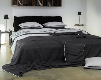 Trimmed duvet Queen duvet cover King linen duvets Double duvet covers Full size bedding Twin linen duvet