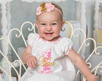 Baby Girl First Birthday Outfit Pink Gold Birthday Girl Outfit Baby Girl 1st Birthday Outfit Smash Cake Outfit Personalized Birthday Dress