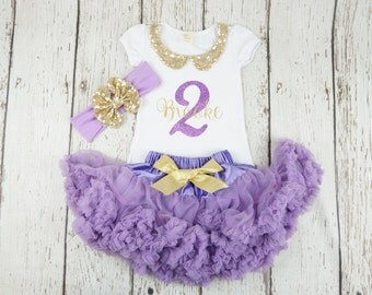 Girl 1st birthday outfit, 2nd birthday , 1st birthday, purple tutu, first birthday outfit, gold and purple outfit, smash the cake, custom