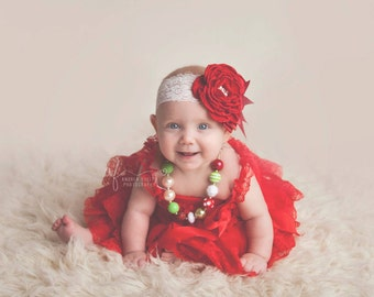 red baby headband, baby headbands, Lace baby headbands, wine red baby headbands, couture baby headband, girls headband, flower headband