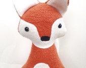 Flicker the Fox, organic fox, organic plush, organic, fox, woodland, fox plush, toy, organic baby, nursery decor, woodland nursery