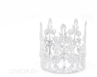 Elle Lace Crown || Ready to Ship || silver MINI lace crown || photography prop|| Toddler-Adult