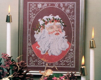 Counted Cross Stitch Pattern | FATHER CHRISTMAS | David McGurkin | Thirteenth Colony