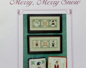 Lindy Jane Designs Cross Stitch Pattern MERRY MERRY SNOW By Melinda Billam