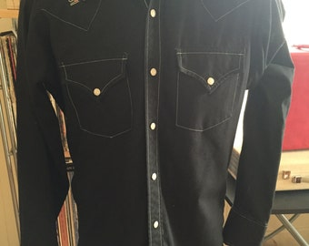 Vintage Ely Western Shirt, Fitted - Size Small