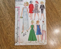 1960s MOD Barbie Doll Fashion Wardrobe - Evening Gown, Summer Dress, Coat, Skirt Suit, More - VINTAGE Sewing Pattern Simplicity 6208