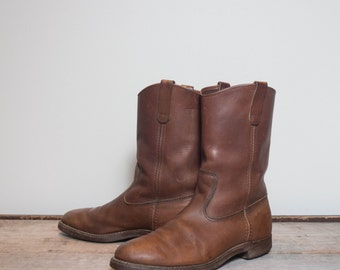 11 B | Men's Vintage Red Wing Pecos Boots in Russet Brown