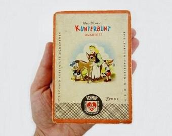 Vintage Disney Happy Families Game in German