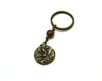 St. Christopher Key Chain - St Christopher - Patron Saint of Travelors -  Key Chain