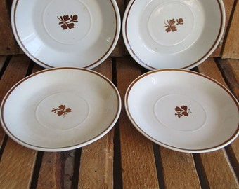 Saucers - Tea Leaf Pattern - Set of Four - Royal Ironstone China - Alfred Meakin - England