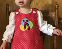 Reversible Denim Jumper Pinafore A-Line Dress, Sizes 0-3 Mos. to Girls 6