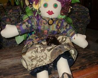 "OOAK Cloth Art Doll 25"""
