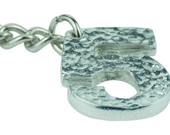5th Year Anniversary Stamped Keyring - Lovely Unique 5 Year Anniversary Gift Idea …