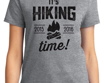 It's Hiking Time Camping Unisex & Women's T-shirt Short Sleeve 100% Cotton S-2XL Great Gift (T-CA-16)