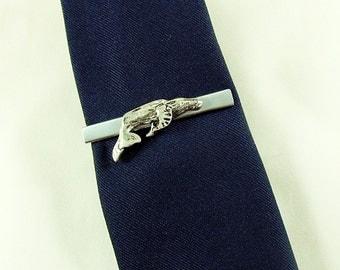 Tie Bar Tie Clip,  Mens Silver Humpback Whale  Mens Accessories
