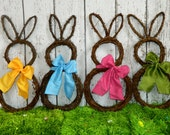 Original Bunny Wreath - Spring Wreath  - Easter Decoration - Large or Mini Bunny Wreath- Quick Ship