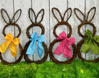 Easter Wreath - Bunny Wreath - Spring Wreath  - Easter Decoration - Quick Ship-