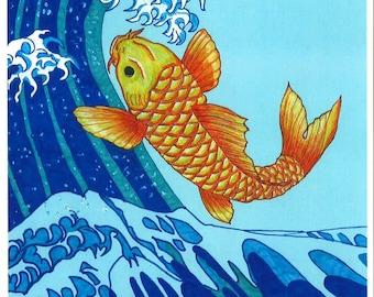 Koi Fish Painting Print