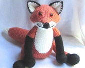Toy Fox - KNITTING PATTERN – pdf file by automatic download